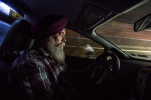 Jinder Singh, 55, formerly a farmer from Punjab, followed his brother-in-law into the taxi business. He has driven a taxi for around 15 years.