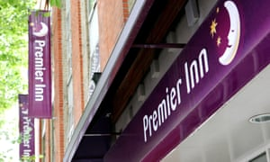 A Premier Inn Hotel, part of the Whitbread Group, central London.