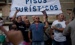 Tourism protest in Barcelona