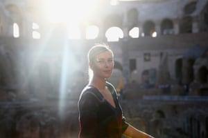 Maria Sharapova poses for a portrait inside the Rome Colosseum during the 2017 Internazionali BNL d'Italia