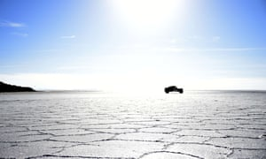 Uyuni, the world's largest salt flat, is located in Bolivia near the crest of the Andes, some 3,650 metres above sea level.