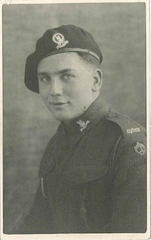 Ian Forsyth as a young man in his army uniform.