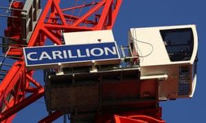 A crane on a Carillion construction site