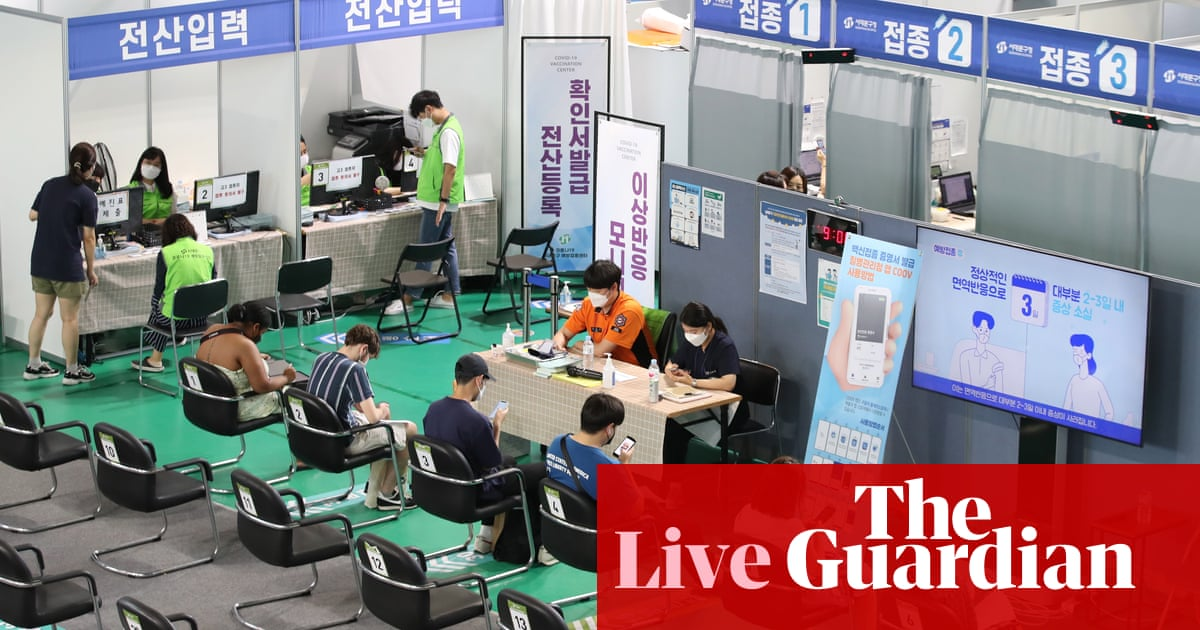 Coronavirus live news: South Korea reports record new cases; WHO calls for end to 'disgraceful' vaccine inequality