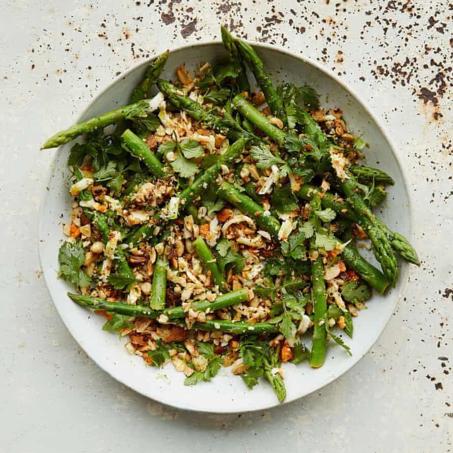 Welcome to springtime: Anna Jones' asparagus polonaise.