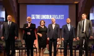 Steve Schmidt, Rick Wilson, Jennifer Horn, Reed Galen, Mike Madrid and Ron Steslow at Cooper Union.