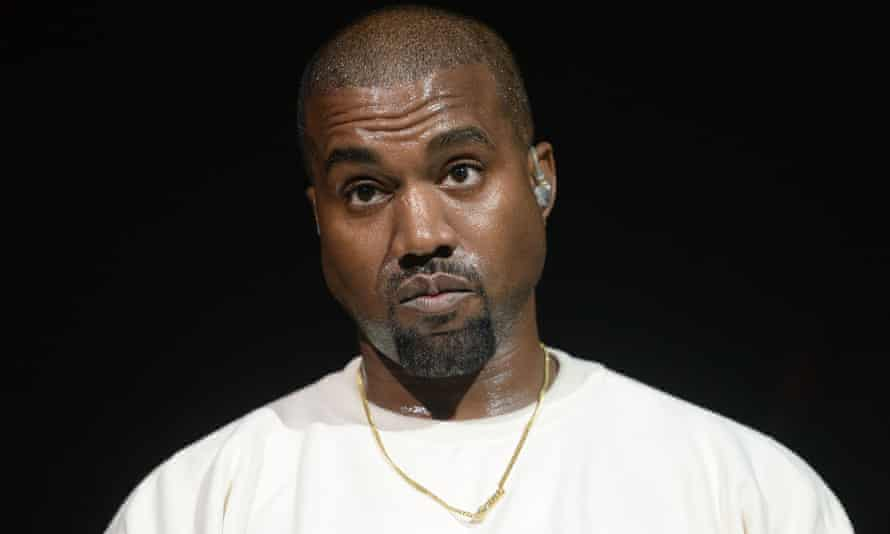 Kanye West on stage in Anaheim, California in 2016