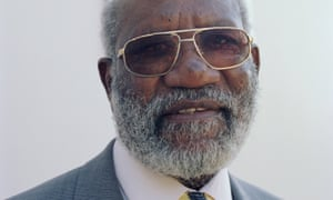 Andimba Toivo ya Toivo, pictured while Namibian minister of mines and energy, fought in the second world war and castigated the judge at his trial, who had not.