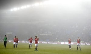 Fulham players thank their fans after the match was abandoned