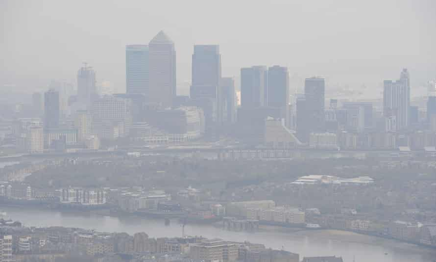 Polluted air over London