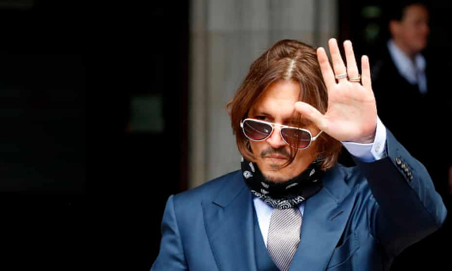 US actor Johnny Depp outside the hight court in London