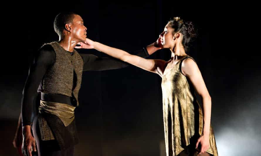 Damien Johnson as Orpheus and Sarah Kundi as Eurydice in Ballet Black's production of Orpheus.
