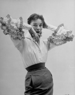 Bettina Graziani modelling the Bettina blouse that Givenchy named for her
