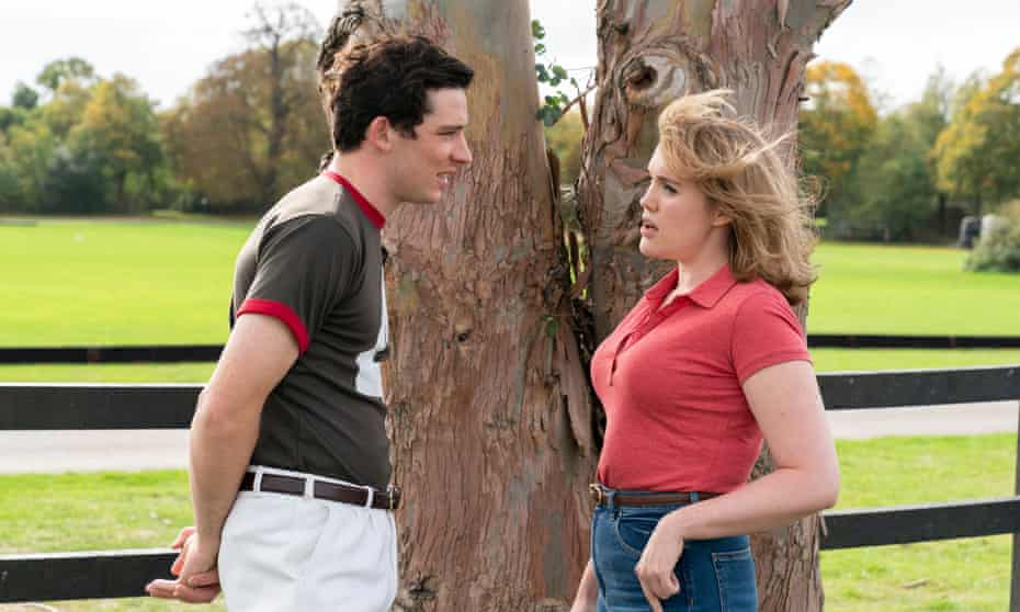Josh O'Connor as Prince Charles and Emerald Fennell as Camilla Shand.