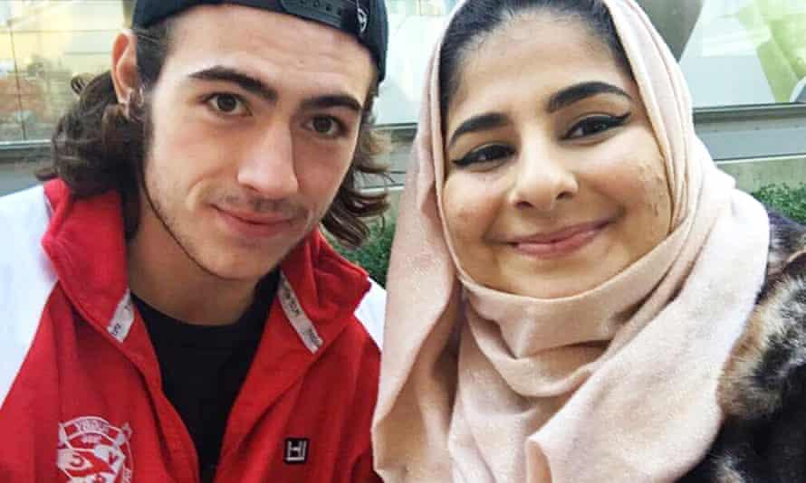 Noor Fadel called Jake Taylor, left, her 'hero'.