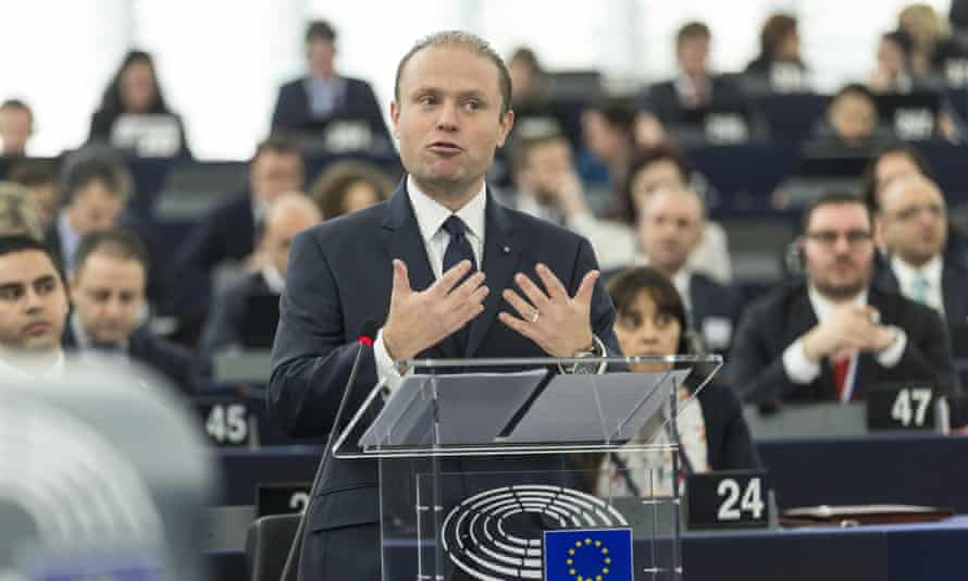 Malta's prime minister Joseph Muscat, whose country holds the European Union's presidency.