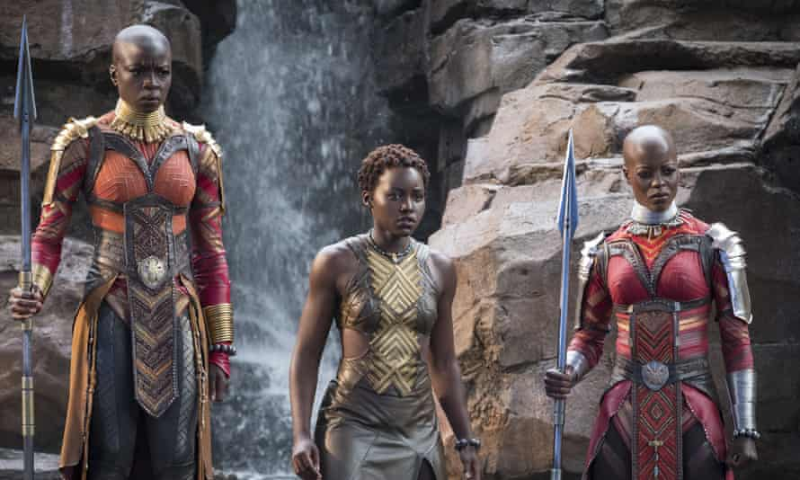 Box-office smash … Danai Gurira, Lupita Nyong'o, Florence Kasumba in Black Panther.