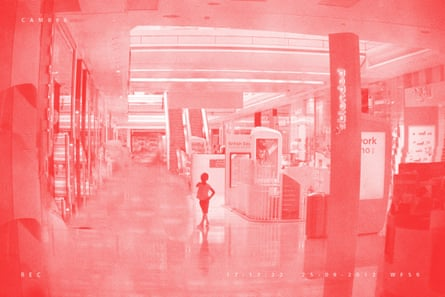 A scene from AR Hopwood's False Memory Archive, Crudely Erased Adults (Lost in the Mall), 2012-13.