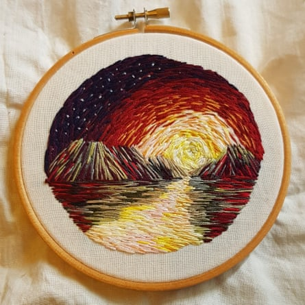 Louise Davidson: '[Embroidery] has taken away so much anxiety and given me something relaxing to focus on.'