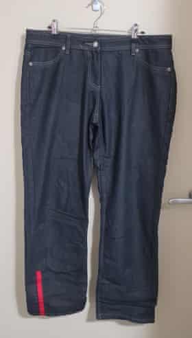The McDonald's uniform pants before Wilson's transformation