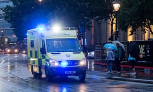 London Ambulance Service responding in bad weather