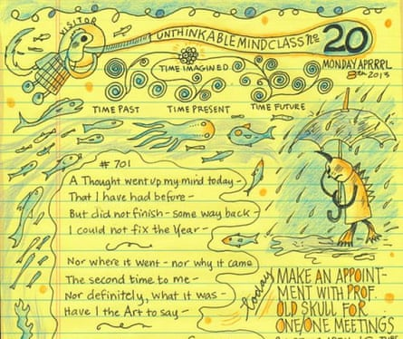 A page from Syllabus, Lynda Barry's book of writing exercises and creativity advice published in 2014