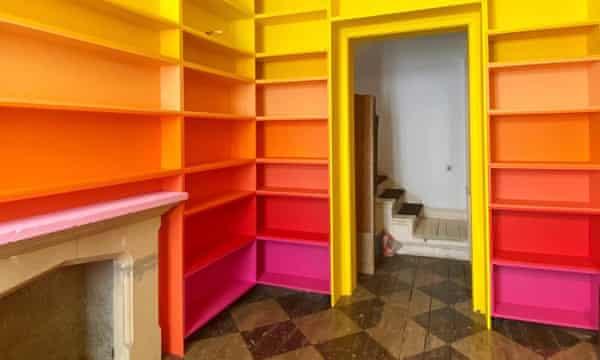 Morag Myerscough's new bookshelves.