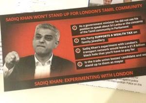 The London Tamils leaflet.