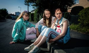 From left to right: Ruby (Liv Hill), Holly (Molly Windsor), and Amber (Ria Zmitrowicz), in the Bafta-winning BBC drama Three Girls