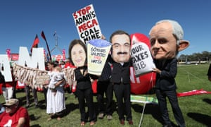 A protest against Adani's Carmichael coalmine