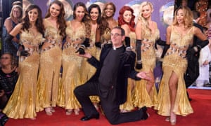 The Rev Richard Coles with dancers at the launch of the autumn season of the BBC's Strictly Come Dancing