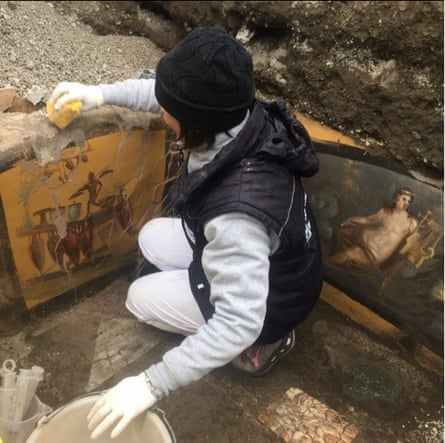 A well-preserved 'fast food' counter was unearthed in March.
