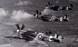 Spitfires flying in formation, late 1930s.