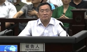 Chinese lawyer Zhou Shifeng during his trial in Tianjin in northern China.