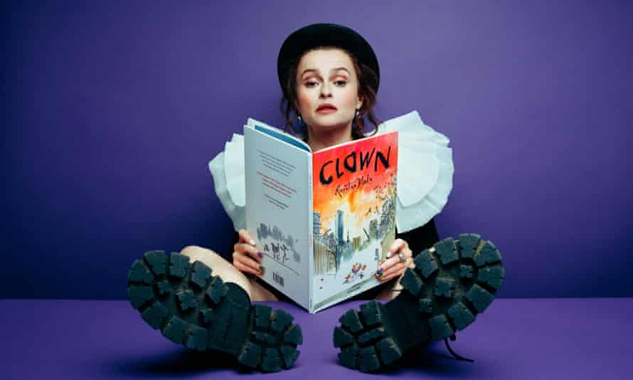 Helena Bonham Carter, reading Quentin Blake's Clown.