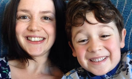 Elaine and her five-year-old son, Wilfred, are taking part in the protest and spending the day at a city farm.