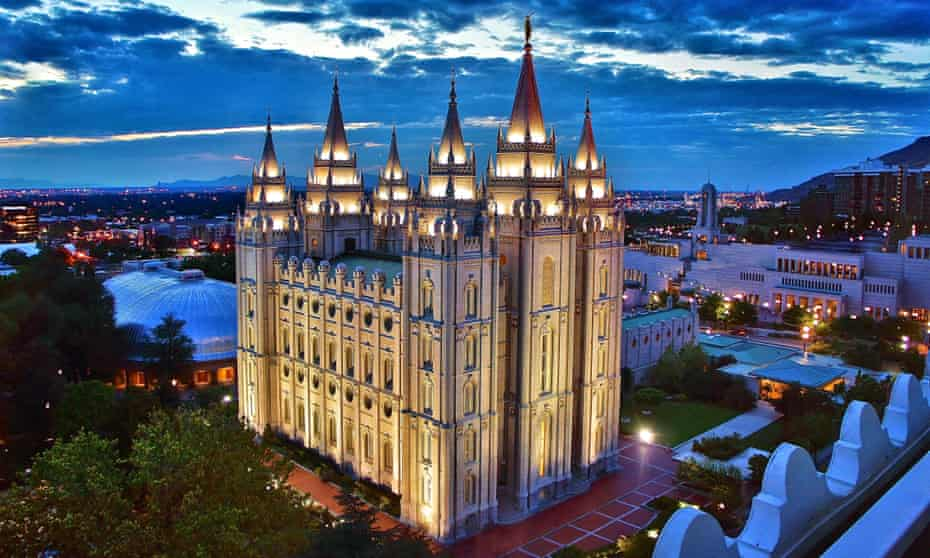 The Church of Jesus Christ of Latter-day Saints temple in Salt Lake City, Utah. The Deseret News, a Salt Lake City newspaper owned by the Mormon church, took the unprecedented step of calling for Trump to resign from the race.