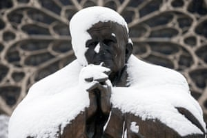 A statue of Pope John Paul II
