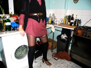 'This is Lou at a friend's house party where they had a grunge theme. Our houses were always strewn with bottles of alcohol and most of the time would smell like a brewery.'