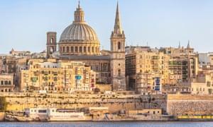 Valletta skyline and waterfront, Valletta Malta