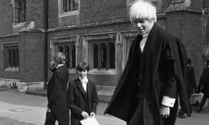 Boris Johnson when a pupil at Eton College in 1979