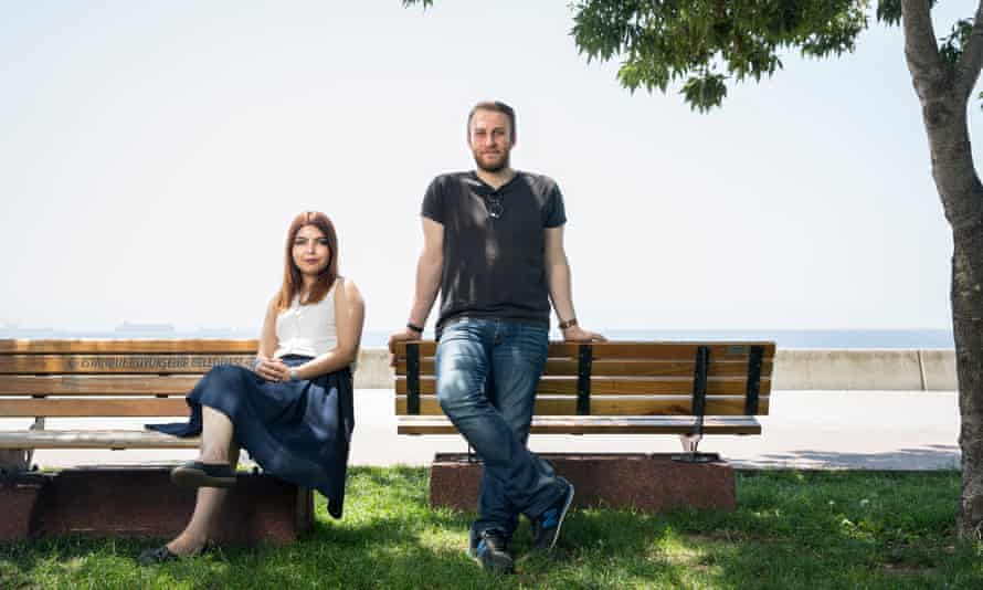 Serap Merve Sungur and her husband