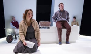 Specimens in a biological experiment … Katy Cavanagh and Colin Connor, foreground, in the play Ashes.