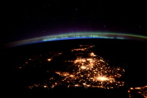 UKThe United Kingdom under an aurora