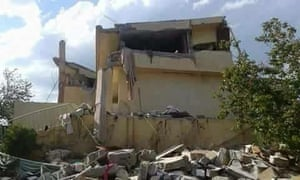 The house of the Abdullah Shahin family in Fadhiliya destroyed in an air strike on 4 April.
