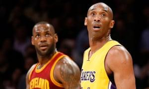 LeBron James, left, and Kobe Bryant in 2016.