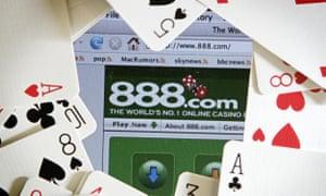 The online gambling website of 888