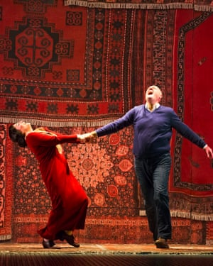 Patricia Racette and John Daszak in ENO's Olivier-nominated production of Shostakovich's Lady Macbeth of Mtsensk.