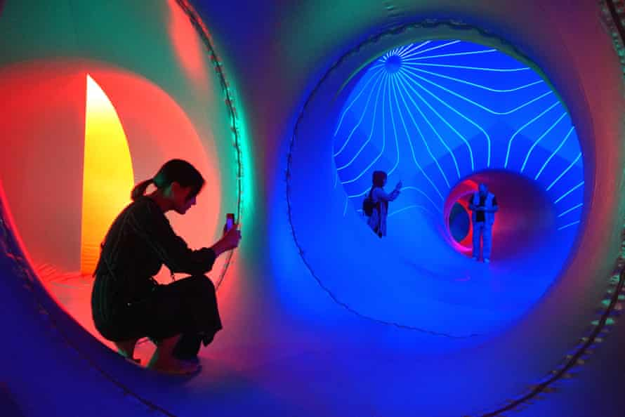 Dodecalis Luminarium, by the Architects of Air, an art installation at the 2020 Sydney festival.