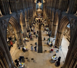 The setting up of the vaccine centre in Lichfield Cathedral took only a few days, according to the dean.